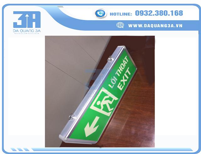 Đèn exit dạ quang 1 mặt giá rẻ 3A
